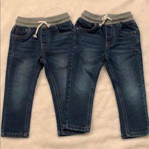 2pairs Cat & Jack denim jeans